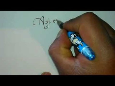 Como hacer una pluma caligrafica , home made caligraphy pen