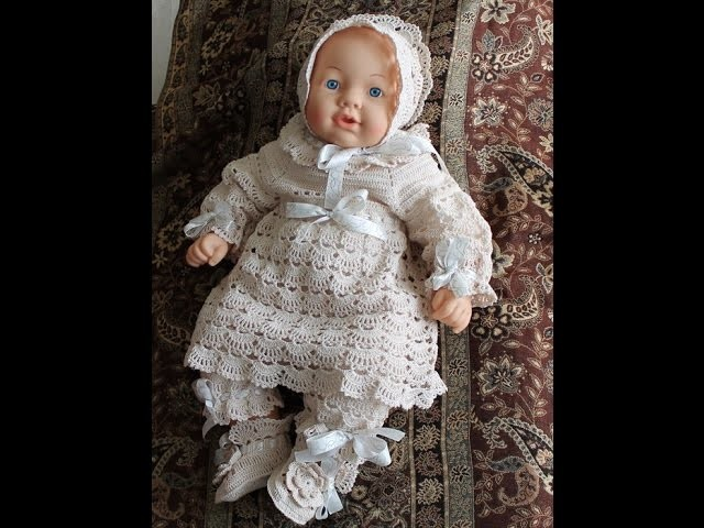Crochet dress| How to crochet an easy shell stitch baby. girl's dress for beginners 50