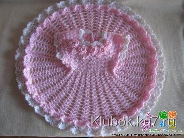 Crochet dress| How to crochet an easy shell stitch baby. girl's dress for beginners 42