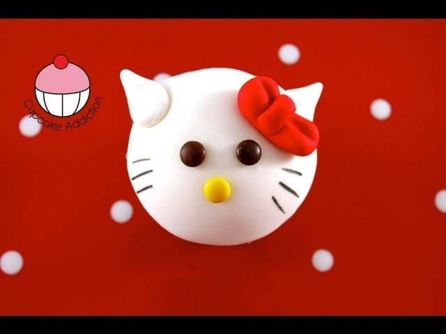 Cupcakes HELLO KITTY Style! Make Hello Kitty Cupcakes - A Cupcake Addiction How To Tutorial!