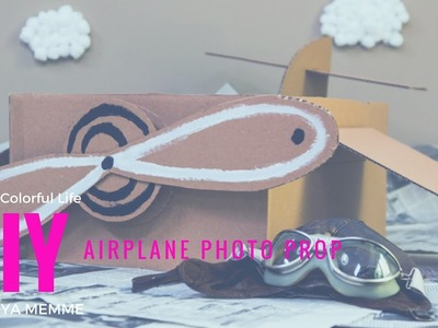 DIY an airplane photo prop for the kids!