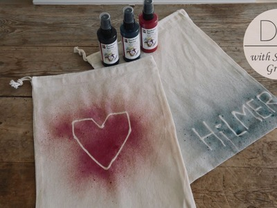 DIY: Canvas pouches with textile spray paint by Søstrene Grene