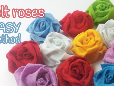 DIY crafts: FELT ROSES (easy method) - Innova Crafts