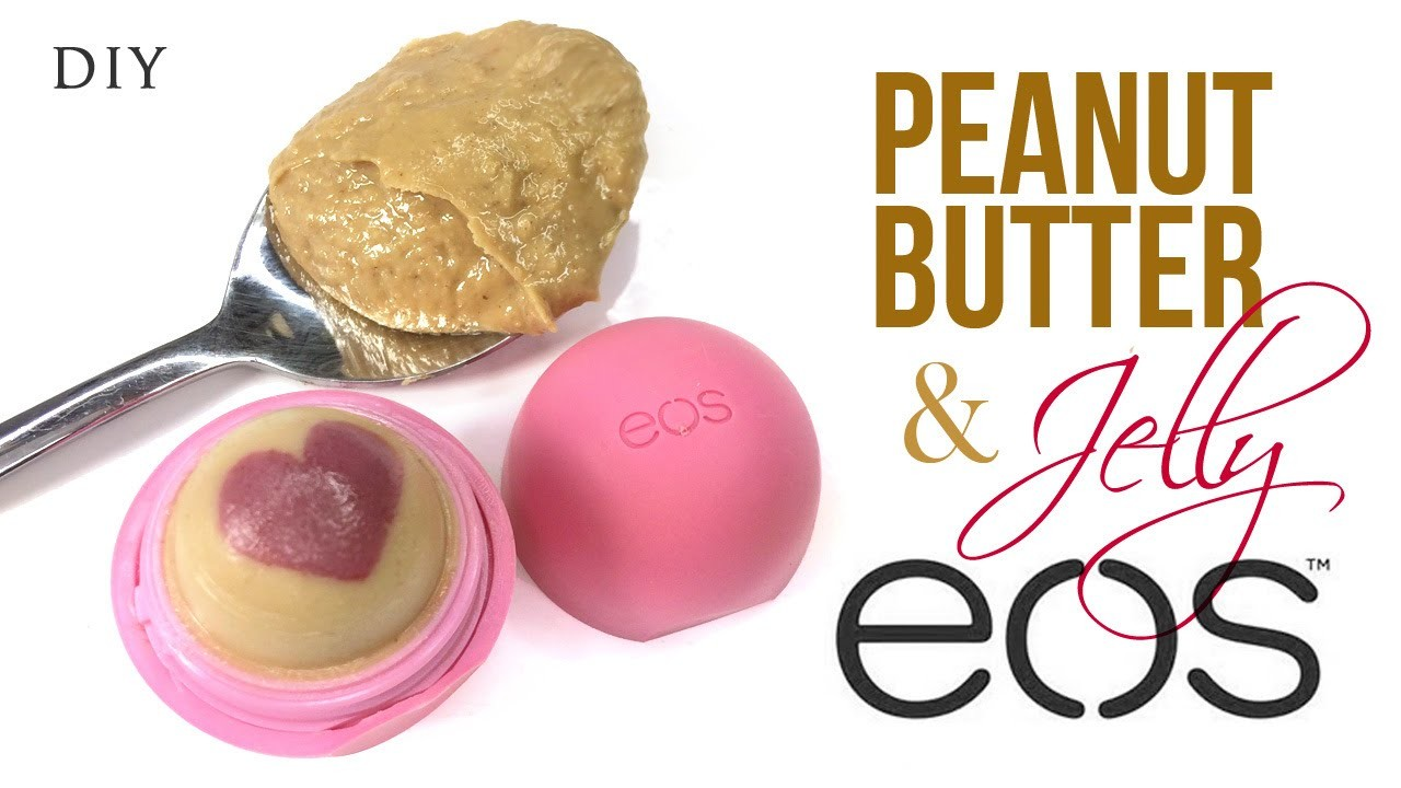 DIY EOS Lip Balm with Peanut Butter and Jelly Scent!
