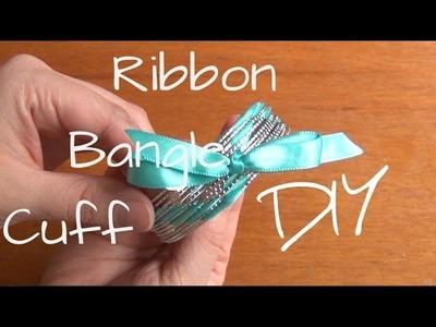 DIY Fashion ♥ Ribbon Bangle Cuff