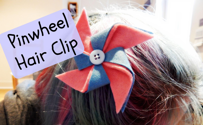 DIY Felt Pinwheel Hair Clip How To ¦ The Corner of Craft