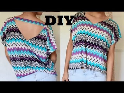 DIY: How to V-Neck Blouse.Shirt