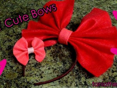 DIY Small Hair Bow.Bow Tie & Big Lolita Bow [SIMPLE]