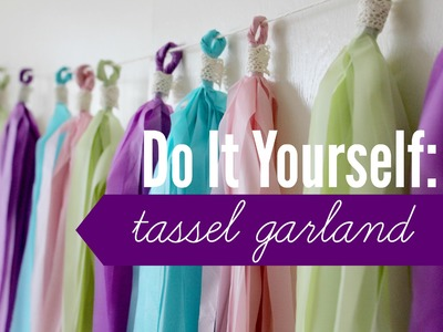 DIY | Tassel Garland (Plastic Tablecloth) | rachel republic