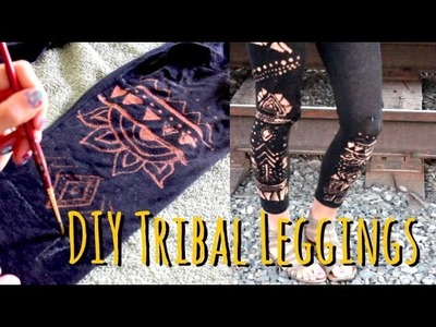 Easy DIY Tribal LEGGINGS - Coolest Idea Ever