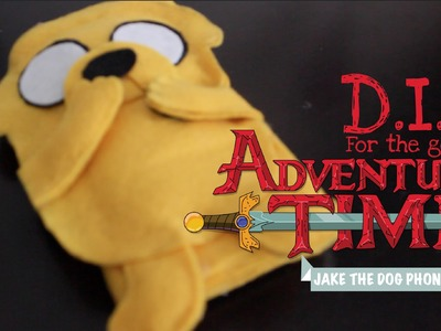 HeartOfGeek DIY: Easy Jake the Dog Felt Phone Case (Adventure Time)