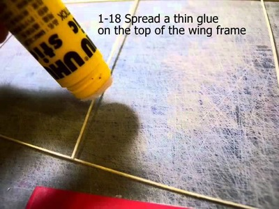 How to building the F1R 35cm indoor plane-- STEP 1 the wing and stable