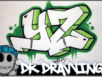 How to draw graffiti - Graffiti Letters YZ step by step