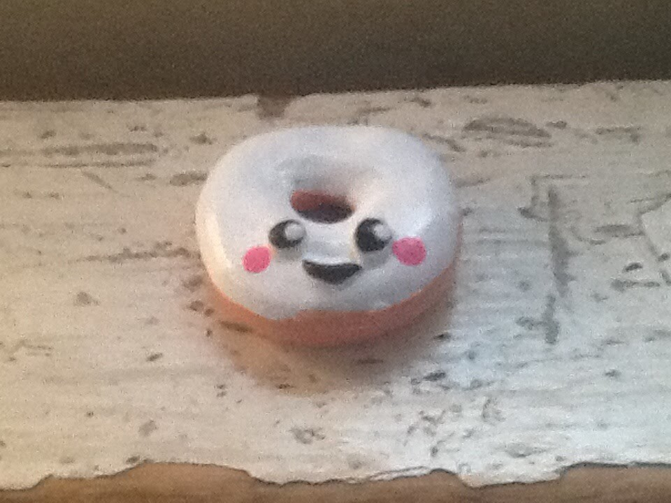 How to make a cute glazed donut out of polymer clay!