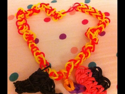 How to make a Rainbow Loom Bracelet Necklace Charm Easy Simple one with Cookie Monster Googoo Gaga