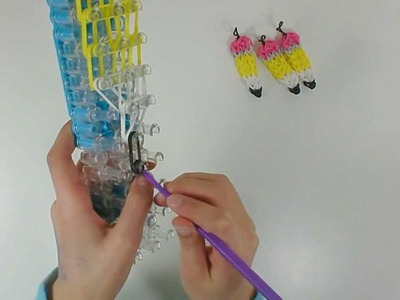 How to make a Rainbow Loom Pencil Charm Tutorial Video - KidToyTesters