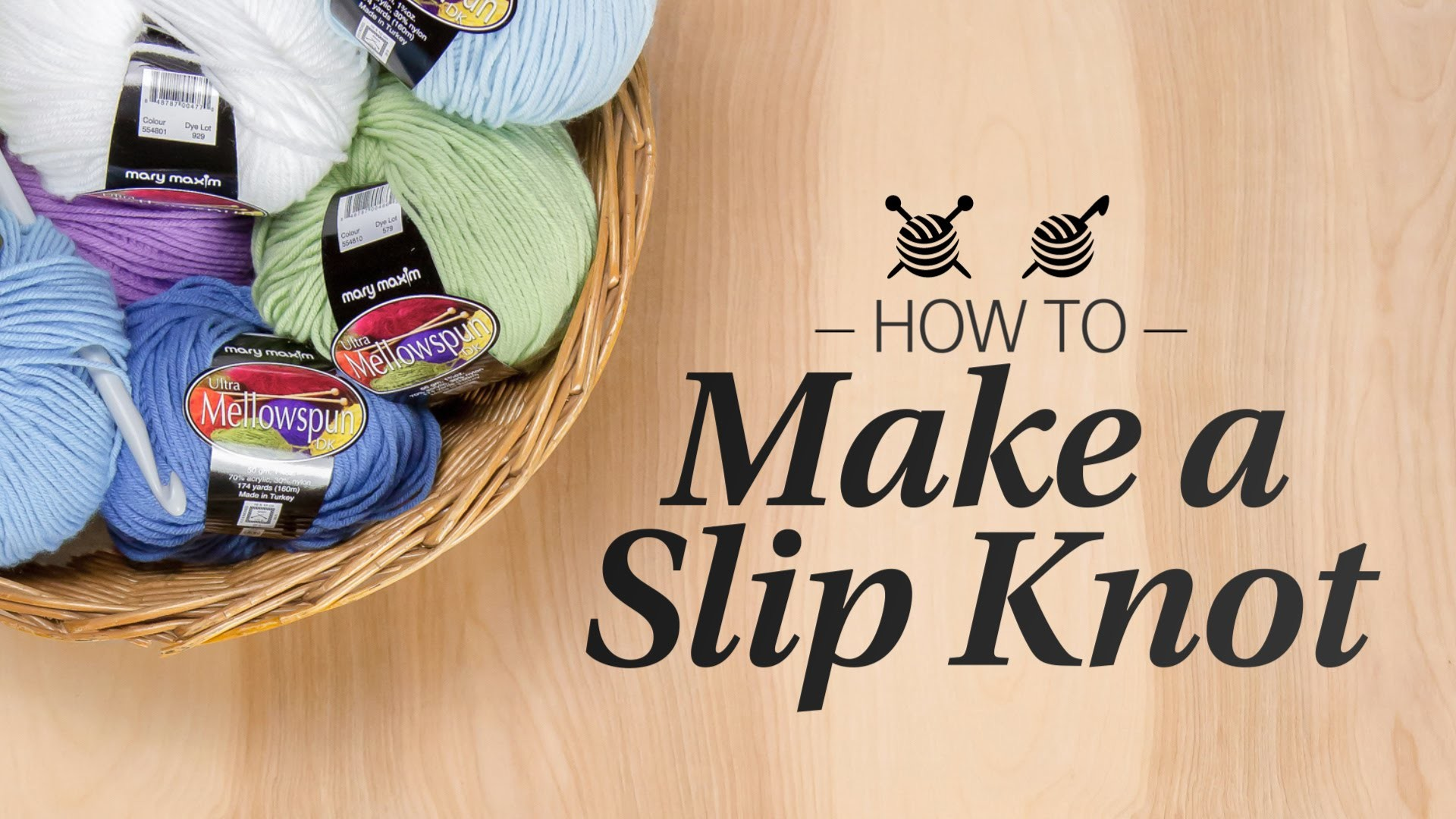 How to Make a Slip Knot - Learn to Crochet Quick