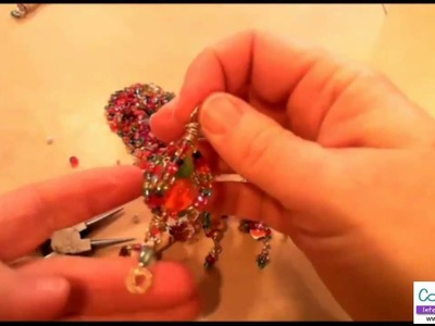 How to Make a Wire Wrapped Swirly Pendant by Candace Jedrowicz