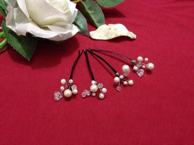 How to make beads Hair pin (Bridal)