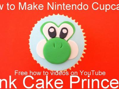 How to Make Yoshi Cupcakes! Nintendo Super Mario Bros & Yoshi's New Island theme Cupcakes