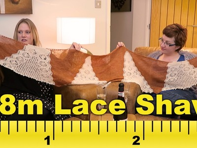 Insane 2.8m lace shawl! Along The Lanes: Episode 8 (Knitting podcast)