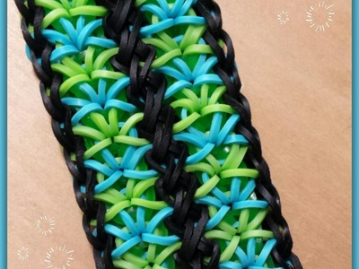 """Jubilation"" Rainbow Loom Bracelet.How to tutorial"