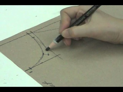 Lesson 2-14  MEDIUM Front Bodice Part 1a - PATTERN MAKING OF A BASIC DRESS WITH WAISTLINE