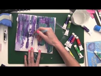 Midori Traveler's Notebook Art Journal Process
