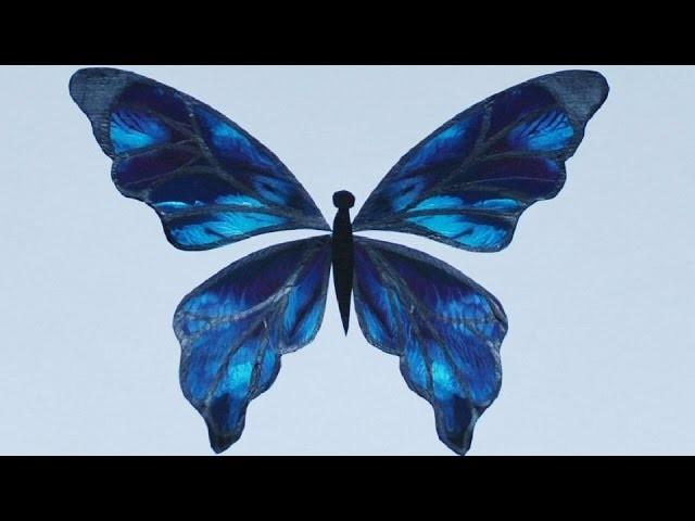 Mixed Media Embellishment - Big Butterfly