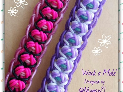 "New ""Wack a Mole"" Rainbow Loom Bracelet.How To Tutorial"