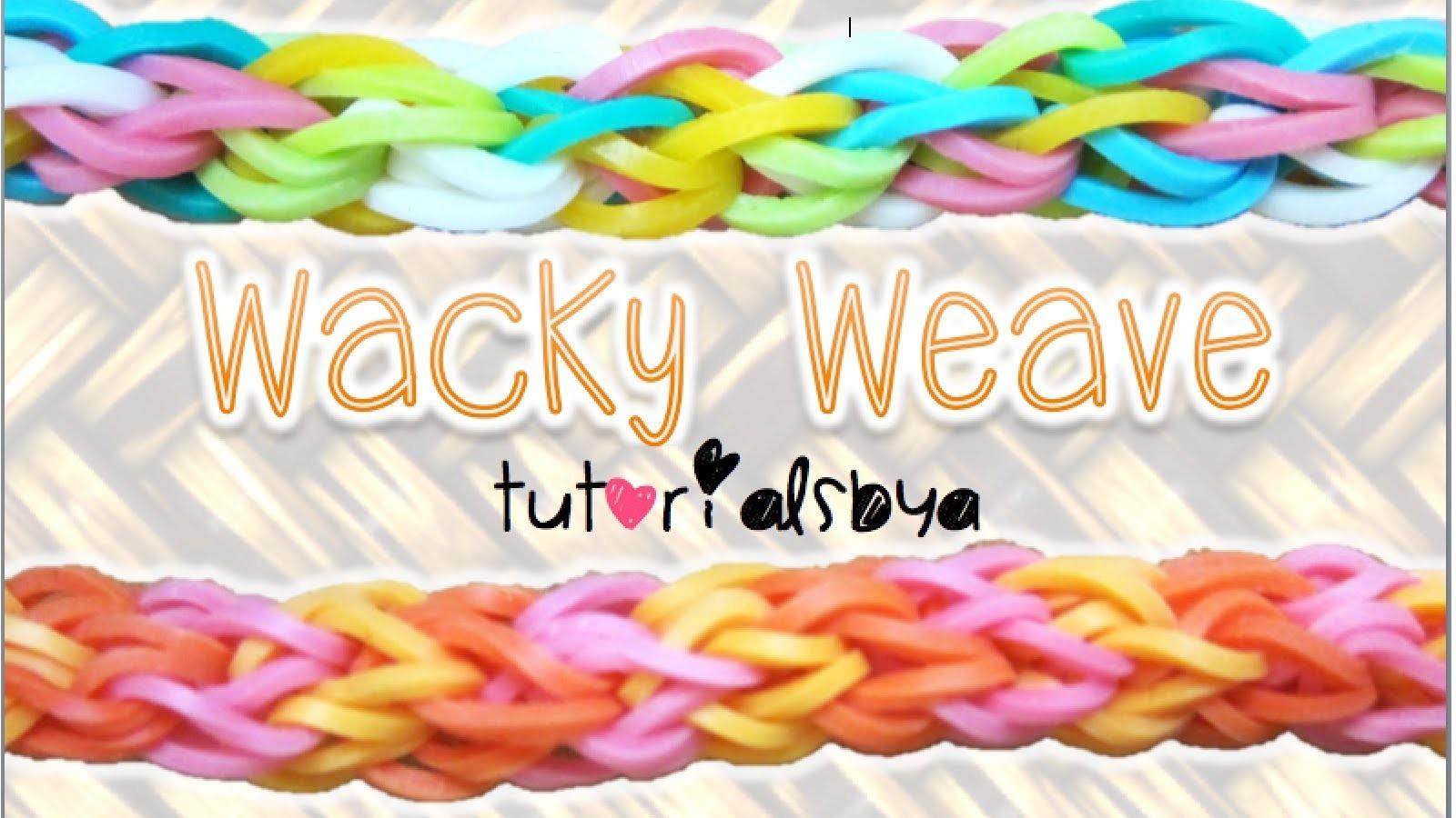 NEW Wacky Weave Rainbow Loom Bracelet Tutorial   How To