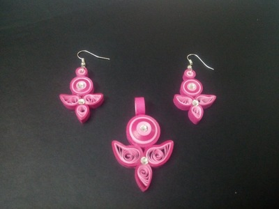 Paper quilling earring - new deisgn - Tutorial