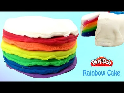 Play Doh Cake | Play Doh Rainbow Cake With Playdough | PlayDoh Food