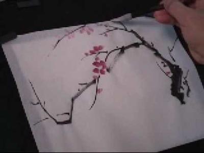 Plum Blossom Chinese Painting Tutorial (3 of 5)