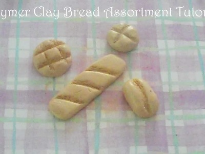 Polymer Clay Bread Assortment Tutorial! (Baguette, Melon Bun, Italian Roll, & Bun)