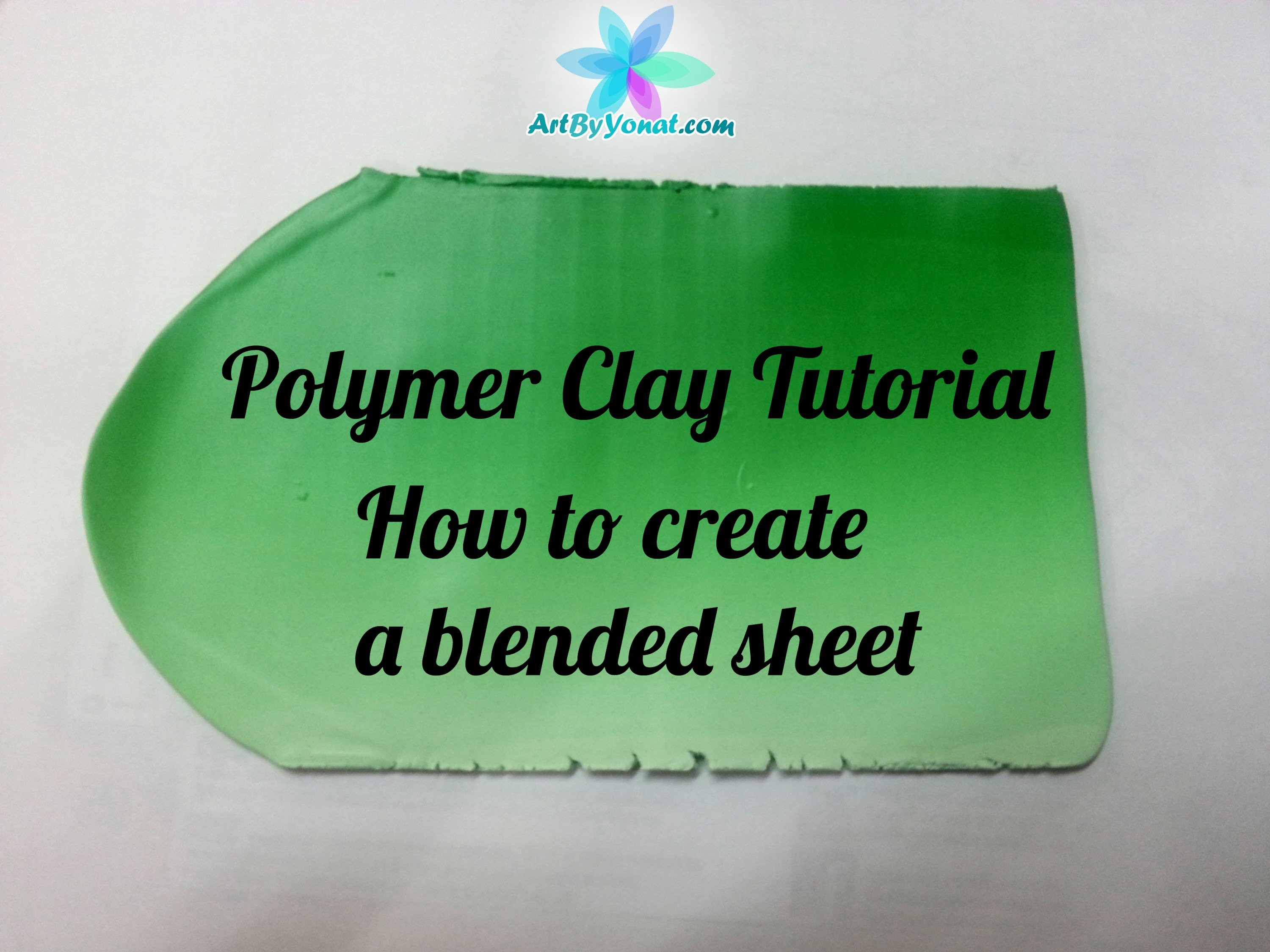 Polymer Clay Tutorial - How to Make a Blended Sheet - Lesson #1