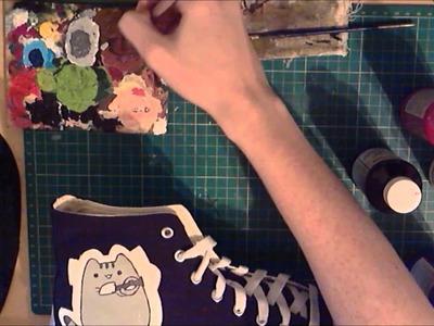 Pusheen cat.Portal shoes