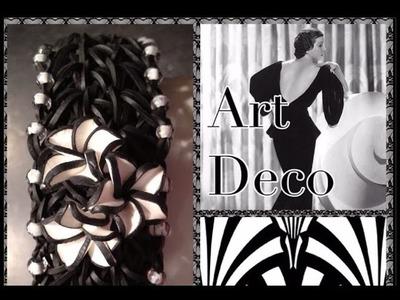 Rainbow Loom Art Deco Bracelet Tutorial.How To