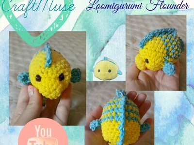 Rainbow Loom Loomigurumi Flounder (Inspired by TSUM TSUM)