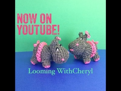 Rainbow Loom skirt for your Hippo - Loomigurumi - Looming WithCheryl