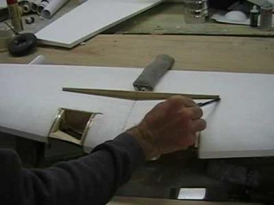 Sheeting a foam wing part 1