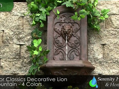 Sunnydaze Decorative Lion Wall Fountain - #132025