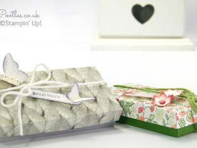 Sweet Treat Box Tutorial using Stampin' Up! DSP