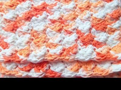 Tunisian crochet dishcloth