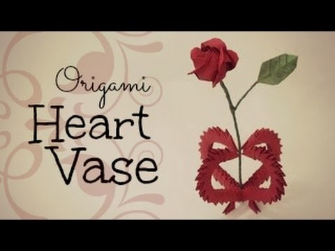 Valentine's day gift~ 3D Origami Heart Vase