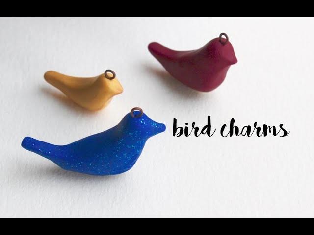 ♥Valentine's Day Polymer Clay Love Bird Charm Tutorial♥ | Pasteldaisy