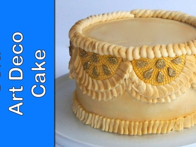 Wedding Cake - How to make a gold art deco cake