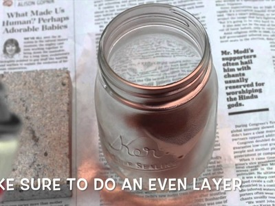 Back to School DIY #1: Rose Gold Mason Jar Pencil Cup
