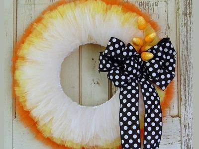 Candy Corn Wreath Tutorial by Trendy Tree