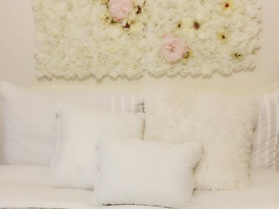 College Apartment DIY Series   Flower Wall Canvas